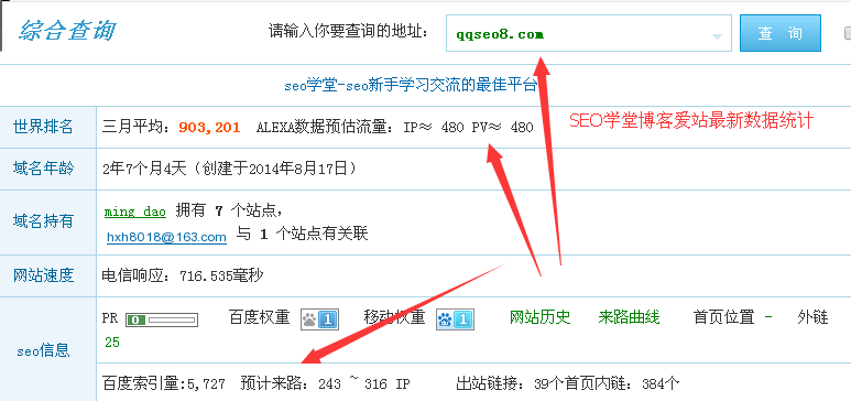 琪琪SEO博客移动端收录流量双提升的图片 - 2