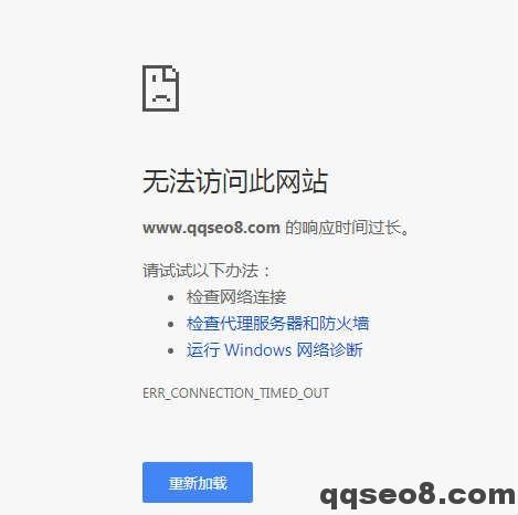 琪琪SEO博客网络故障紧急处理的图片 - 2