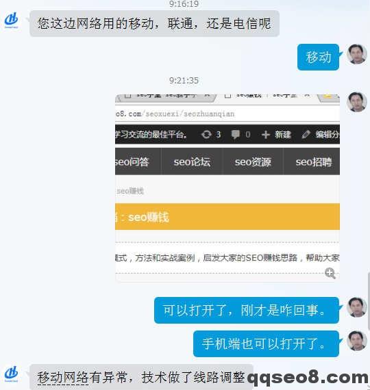 琪琪SEO博客网络故障紧急处理的图片 - 4